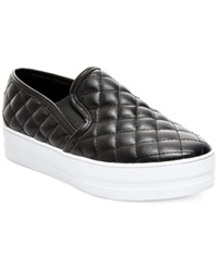 Madden Girl Madden Girl Plaaya Quilted Flatform Slip On Sneakers Women's Shoes Black