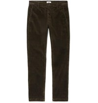 Nn.07 Nn07 Tapered Cotton Blend Corduroy Trousers Brown