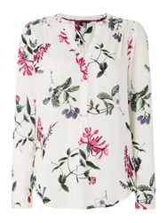 Joules Pop Over Blouse Cream