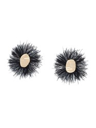 Proenza Schouler Feather Earrings Black