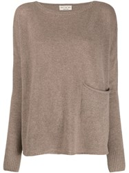 Ma'ry'ya Front Pocket Sweater Brown