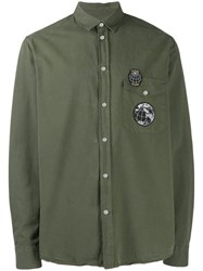 Zadig And Voltaire Patches Button Down Shirt Green
