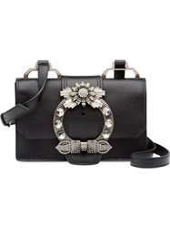 Miu Miu Madras Lady Shoulder Bag Black