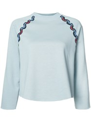 Sonia Rykiel Sequined Detail Sweatshirt Blue