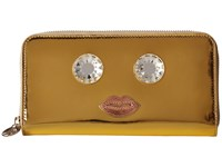 Charlotte Olympia Zip Wallet Gold