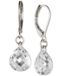 Lonna And Lilly Silver Tone Crystal Drop Earrings