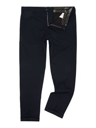 Replay Tapered Fit Wool Blend Trousers Midnight Blue