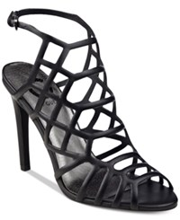 G By Guess Berrit Caged Dress Sandals Women's Shoes Black
