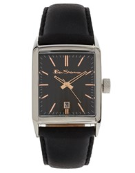 Ben Sherman Leather Watch Black