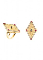 Ara Vartanian Rubies And Diamonds Ring
