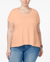 American Rag Trendy Plus Size Cotton Peplum T Shirt Only At Macy's Spanish Villa