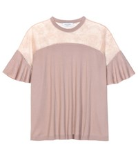Valentino Wool And Lace Top Pink