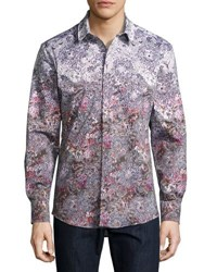 1 Like No Other Floral And Paisley Button Shirt Brown