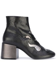 Maison Martin Margiela Mm6 Metallic Embroidered Boots Women Leather 36 Black