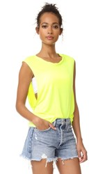 Free People The It Muscle Tee Yellow