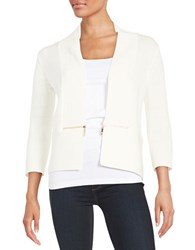 Ivanka Trump Open Knit Cardigan Ivory