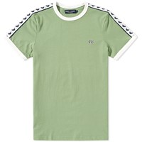 Fred Perry Taped Ringer Tee Green