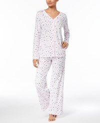 ac8a7db213c9 Charter Club Picot Trim Cotton Pajama Set Created For Macy's Little Bird