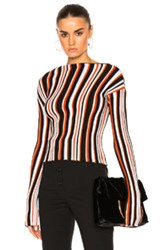 Jacquemus Striped Sweater In Stripes Red Stripes Red