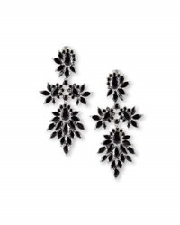 Fallon Crystal Cluster Marquis Statement Earrings Clear