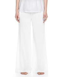 Skin Cropped Palazzo Lounge Pants White