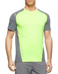 Calvin Klein Colorblocked Performance Tee Neon Yellow