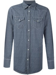 Dsquared2 All Over Chain Print Shirt Blue