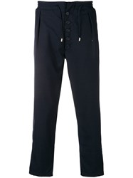 Sunnei Drawstring Straight Leg Trousers Blue