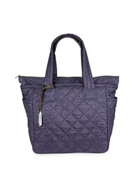 Le Sport Sac City Chelsea Tote Ink Denim Quilted