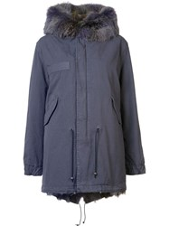 Mr And Mrs Italy Flap Pockets Parka Coat Pink Purple