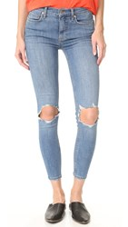 Free People High Rise Busted Skinny Jeans Light Denim
