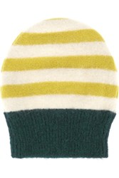 Marni Striped Alpaca Blend Beanie Yellow