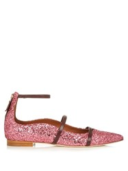 Malone Souliers Robyn Point Toe Glitter Flats Pink Multi