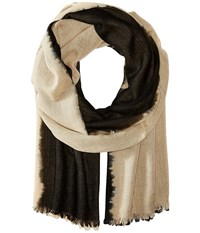 Love Quotes Travel Weight Cashmere Dip Dye Wrap Scarf Shy Black Scarves