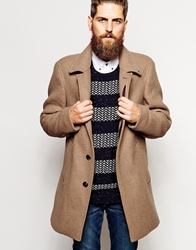 Scotch And Soda Wool Coat Tan