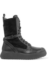 Atelje 71 Edda Suede And Leather High Top Sneakers Black