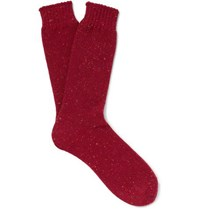 Mr P. Donegal Reverse Knit Socks Red