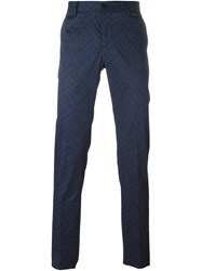 Etro Chain Pattern Trousers Blue