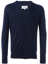Maison Martin Margiela Maison Margiela Elbow Patch Cardigan Blue