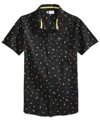 Lrg Men's Infinite Blox Graphic Button Down Shirt Black