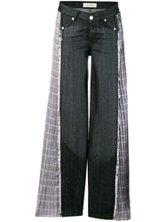 Each X Other Check Detail Jeans Black
