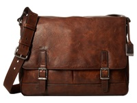 Frye Oliver Messenger Dark Brown Antique Pull Up Messenger Bags