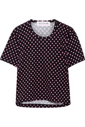 Comme Des Garcons Girl Polka Dot Cotton Jersey T Shirt Black