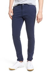Rvca Men's 'Stapler' Skinny Fit Twill Pants Federal Blue