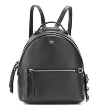 Fendi By The Way Mini Leather Backpack Black