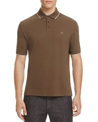 Z Zegna Piquet Slim Fit Polo Olive