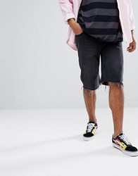 Cheap Monday Beat Shorts In Washed Black Washed Bk