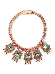 Mawi Geometric Crystal Necklace Multicolour