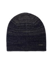 John Varvatos Ombre Knit Wool And Cashmere Skull Hat Cherrywood Midnight Black