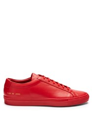 Common Projects Original Achilles Low Top Leather Trainers Red